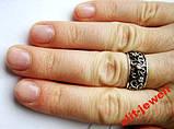 Серебряное кольцо с чернением 17,5 размер, фото 3