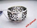 Серебряное кольцо с чернением 17,5 размер, фото 4