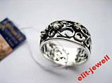 Серебряное кольцо с чернением 17,5 размер, фото 5