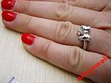 Серебряное кольцо Бантик размер 16.5, фото 3