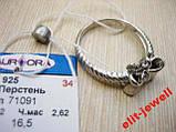 Серебряное кольцо Бантик размер 16.5, фото 4