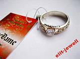 Кольцо - серебро с золотом - 16 р. живое фото, фото 2