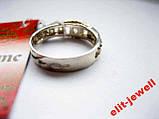 Кольцо - серебро с золотом - 16 р. живое фото, фото 5
