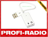 USB звуковая карта 3D 7.1 адаптер аудио sound