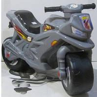 Детский мотоцикл каталка Орион 501, серый