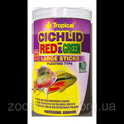 КОРМ ДЛЯ ЦИХЛИД Cichlid Red&Green Large ST. 10L /3kg TROPICAL