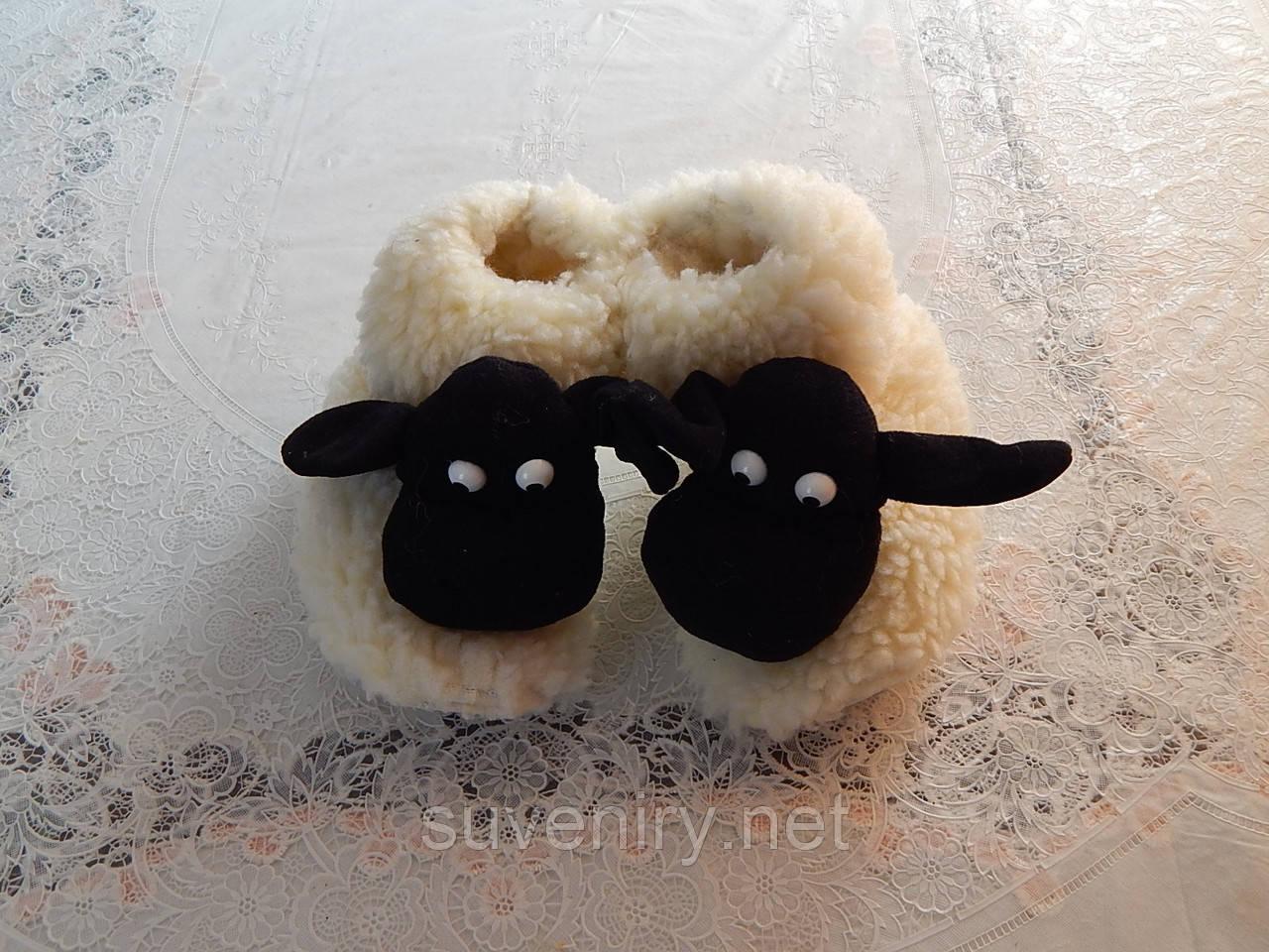 Чуни с овечкой из овечьей шерсти есть детские и взрослые