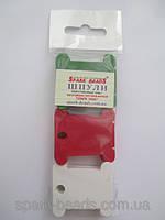 Шпули пластиковые для мулине микс из трех цветов: красного, белого, зеленого (30 шт)