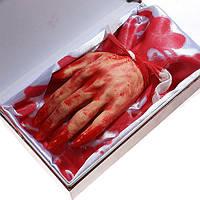 Шевелящиеся Рука оторванная - резиновый макет- музыкальная - декорация на хэллоуин
