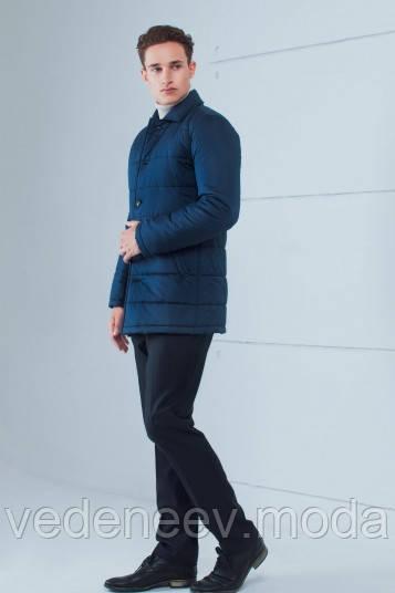 Демисезонная куртка выходного дня, темно-синяя