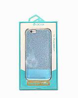 Чехол на заднюю крышку Devia для iPhone 6/6S голубой