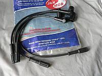 Провода зажигания ВАЗ 2107 1.6 i инжекторные 4шт длиной 41,31,30 и 24см JanMor E20 Польша черные бензин газ