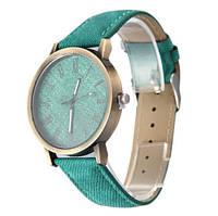 """Часы кварцевые наручные джинсовые """"Denim"""", зелёный"""