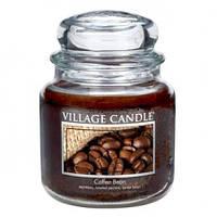 """Ароматическая свеча в стекле Village Candle """"Кофейные зерна"""". 455 гр/ 105 часов"""