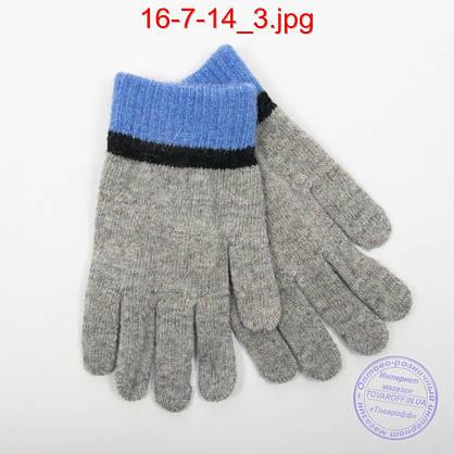 Ангоровые перчатки для мальчиков - №16-7-14, фото 3