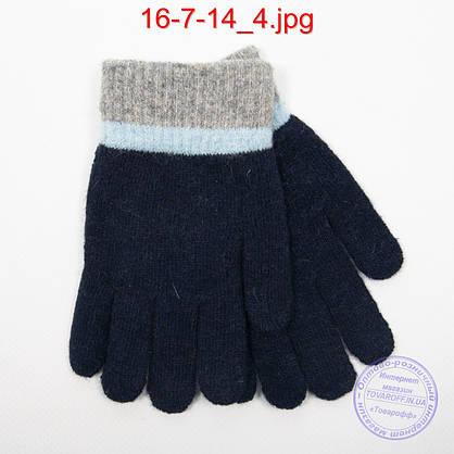 Ангоровые перчатки для мальчиков - №16-7-14, фото 2
