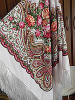 Женский шерстяной платок в украинском стиле хорошее качество
