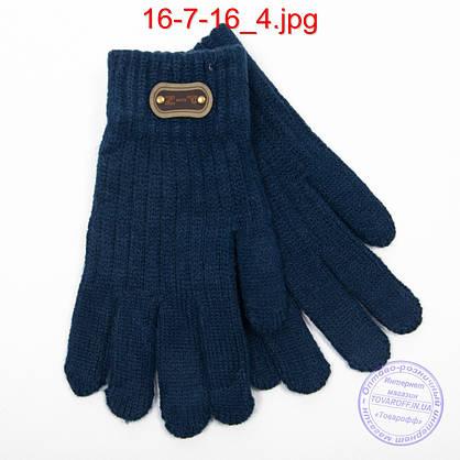 Ангоровые перчатки для мальчиков - №16-7-16, фото 2