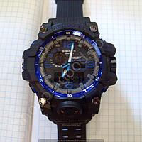 Часы Casio G-Shock CWG-1000 Mudmaster 5463 мужские черные с синим водонепроницаемые с подсветкой и календарем