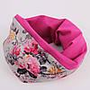 Серый цветочный шарф + фуксия
