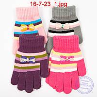 Шерстяные перчатки для девочек - №16-7-23, фото 1
