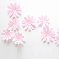 Объемные 3D цветы розовые.