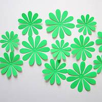 Объемные 3D цветы зеленые.