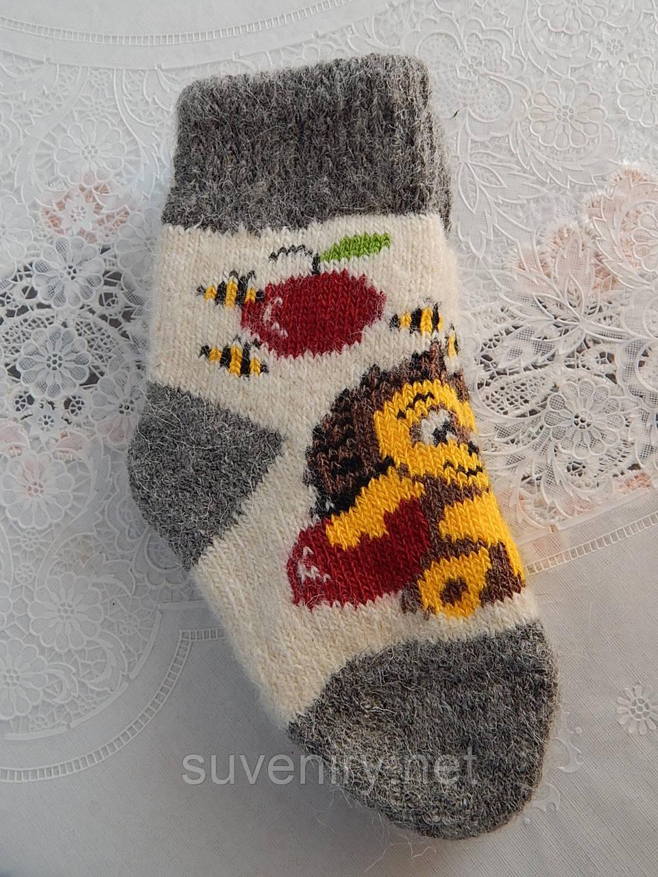 Детские мягкие носки из натуральной шерсти