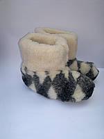 Чуни из натуральной овчины на замшевой подошве, фото 1
