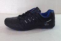 Мужские кроссовки демисезонные чёрные низкие   К-01008