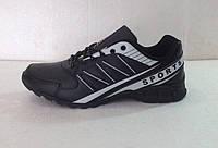 Мужские кроссовки демисезонные чёрные  К-01009