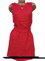 Стильное летнее платье в горох  красивый и удобны