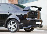 "Диффузор заднего бампера ""Zodiak"" (накладка, юбка, губа,спойлер ) Mitsubishi Lancer X 2007+ Лансер Х"