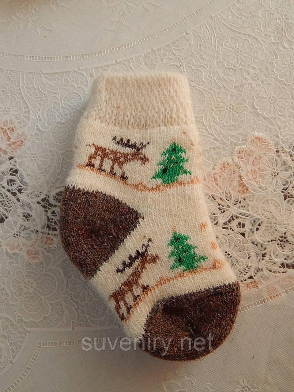 Детские шерстяные носочки теплые мягкие