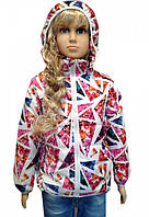 Яркая куртка для девочек, примерно 5-8 лет. Верхни