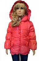 Яркая куртка для девочек, примерно 2-5 лет. Верхни