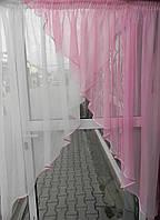Кухонная занавеска (розовая)