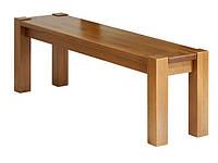 Лавка из бука Степ (проходная нога) 120х35х50 (IKEA) (прозрачный/коричневый/черный )