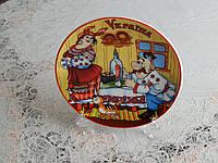 Сувенирная тарелка на подставке Украина, фото 1