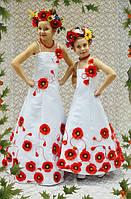Нарядное платье для девочки Маки Украина 3D эффект