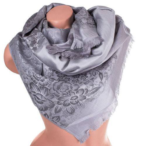Чудесный женский двусторонний палантин из пашмины 184 на 71 см ETERNO ES2707-11-2 серый