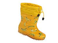 """Резиновые сапоги детские Verona """"Бананы на желтом"""" 20 см"""