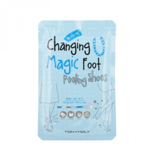 Tony Moly Changing U magic foot peeling shoes Мягкий пилинг для ног