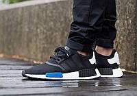 Мужские кроссовки Adidas Originals NMD R1 (адидас ориджиналс р1) черные, мужские кроссовки для бега