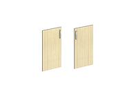 Двері (410х18х760) клен/сірий
