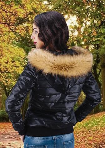 Зимова жіноча куртка з хутром, фото 2