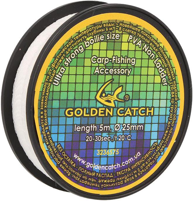 Пва сетка для рыбалки Golden catch на шпуле 5м, 37мм