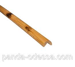 Бамбуковий молдинг кутовий зовнішній, черепаховий темний