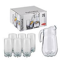97875* Набор - кувшин+6 высоких стаканов Сильвана