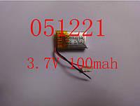 Аккумулятор LiPo для Bluetooth 501221 100мА 3.7v, фото 1